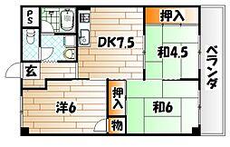 プレアール大田町[7階]の間取り