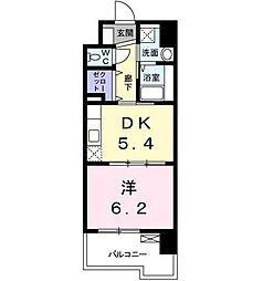 シャルム駅南[4階]の間取り