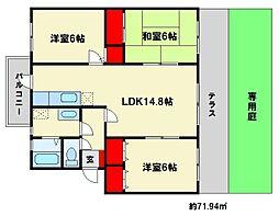 高義ビルⅢ[1階]の間取り