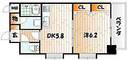 ライオンズマンション小倉駅南第2[4階]の間取り