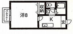 セジュール西村[105号室]の間取り