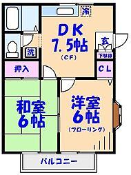 入江コーポB[202号室]の間取り