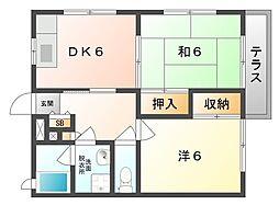 ハイツサカイ[1階]の間取り