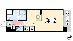 兵庫県姫路市亀山の賃貸マンションの間取り