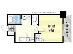 willdo難波w1[11階]の間取り