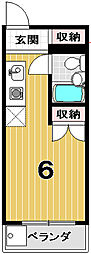 スペース金閣寺[416号室]の間取り