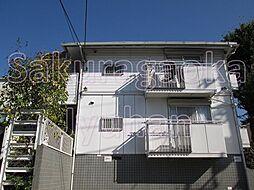 東京都目黒区柿の木坂1丁目の賃貸アパートの外観