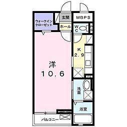メゾン葵[1階]の間取り