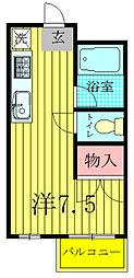 メゾン矢尾板[1階]の間取り