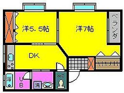 松尾ハウス[2階]の間取り