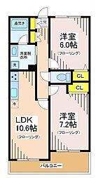 東京都世田谷区八幡山3丁目の賃貸マンションの間取り