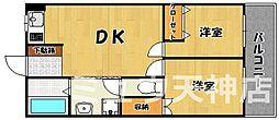 福岡県福岡市中央区舞鶴3丁目の賃貸マンションの間取り