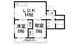 富士朝日町マンション[0403号室]の間取り