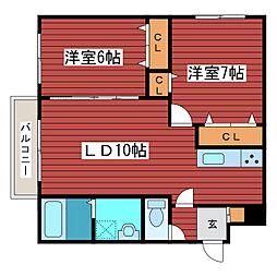 A BOND月寒東[2階]の間取り