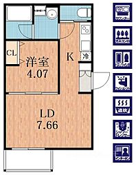 duplex天王寺東[3階]の間取り
