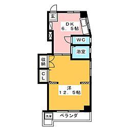アロマージュ フォレスト[3階]の間取り