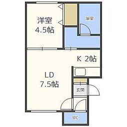 シャトーN21[2階]の間取り