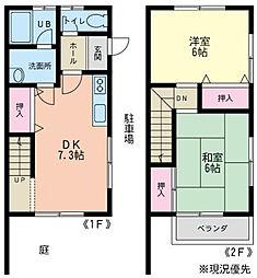[テラスハウス] 神奈川県藤沢市鵠沼橘2丁目 の賃貸【/】の間取り