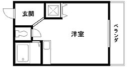 ブランシャトー久米田[403号室]の間取り