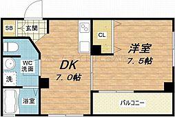 maison de chou chou[6階]の間取り