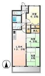 ライオンズマンション八事ガーデン壱番館[9階]の間取り