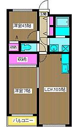 ソシアル末広[4階]の間取り