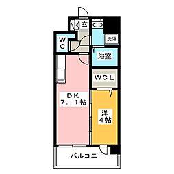ラファセ美野島[3階]の間取り