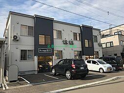 北海道札幌市東区伏古十一条2の賃貸アパートの外観