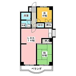 マンションケルン[4階]の間取り
