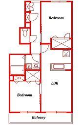 仮称)アメニティー藤沢市石川新築アパート[1階]の間取り