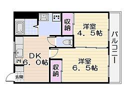 栄田マンション[3階]の間取り