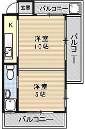 小堀マンション(山科)[C1号室号室]の間取り