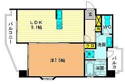 ハックベリー桜坂[4階]の間取り