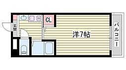 兵庫県明石市中崎2丁目の賃貸アパートの間取り