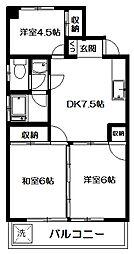 第二サンマンション[307号室]の間取り