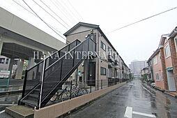 埼玉県草加市松原5丁目の賃貸アパートの外観