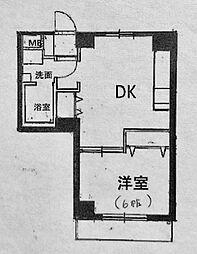 ラ・メール横浜[202号室]の間取り