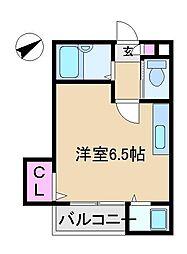 東京都北区上中里3丁目の賃貸マンションの間取り