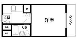 ユニデンス貝塚[209号室]の間取り