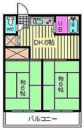 埼玉県さいたま市南区南浦和1丁目の賃貸アパートの間取り