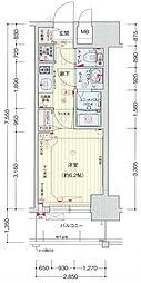 プレサンス大阪ドームシティワンダー[3階]の間取り