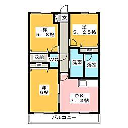 パークコート5(PARK COURT V)[10階]の間取り