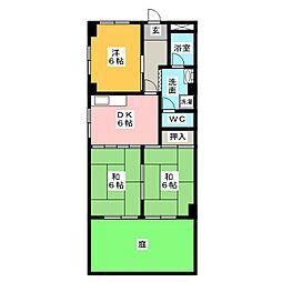 シャンポール原II[1階]の間取り