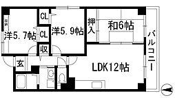 リゾうねの2[3階]の間取り