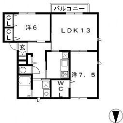 サンモール平山[101号室号室]の間取り