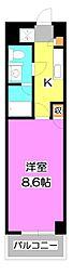 ソレイユ鶴瀬[2階]の間取り