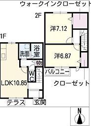 [タウンハウス] 愛知県名古屋市港区大手町5丁目 の賃貸【/】の間取り