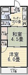 第一大沢コーポ[206号室]の間取り