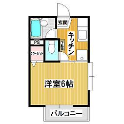 グランシャリオ戸塚II[201号室]の間取り