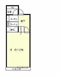 グリーンヒルハイツ[2階]の間取り